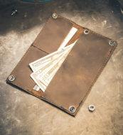 Dark Brown Long Wallet